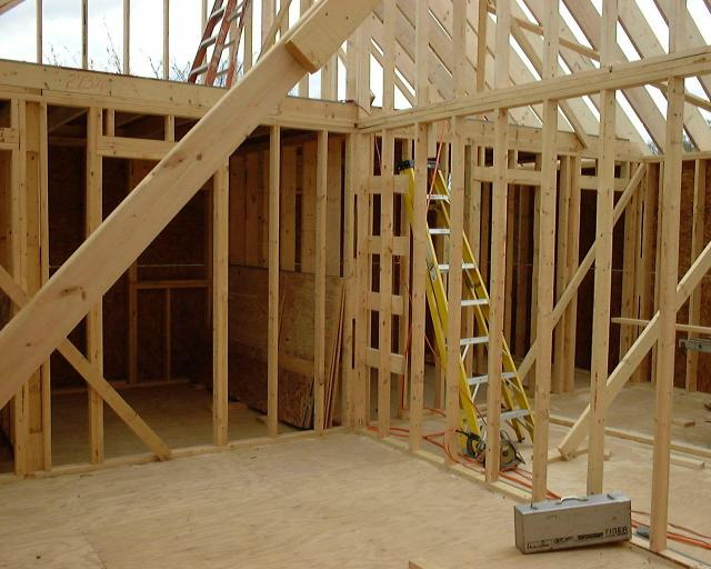 pictures of the framing of the new addition. Black Bedroom Furniture Sets. Home Design Ideas